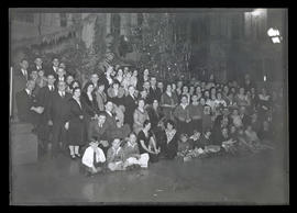 Large group at Christmas party