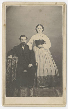 Unidentified portrait of a man and woman from Thompson and Paxton Studios