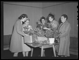Vanport residents with plants
