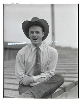 Luckner, half-length portrait, probably at Pacific International Livestock Exposition
