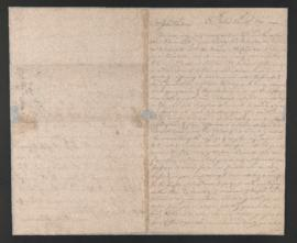 Letter from Joseph Barrell to John Hoskins
