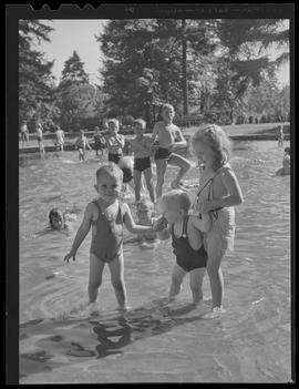 Children at city pool