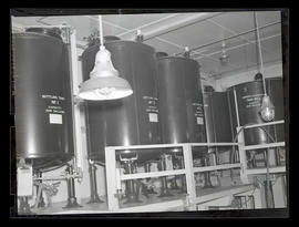 Tanks in liquor bottling plant