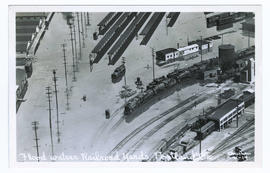 Flooded railroad yards during the Vanport flood