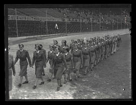 Members of Oregon Women's Ambulance Corps at Multnomah Stadium, Portland