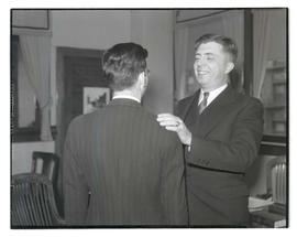 Charles F. Walker? with unidentified man