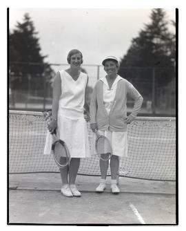 Two tennis players on court