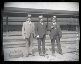 George Masterson and two unidentified men