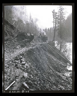 Oak Grove project, slide on road below South Fork