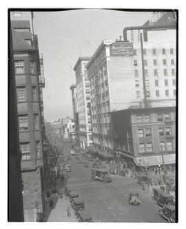 View of 6th Street, downtown Portland, facing north