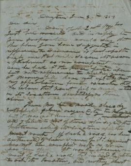 Handwritten copy of letter