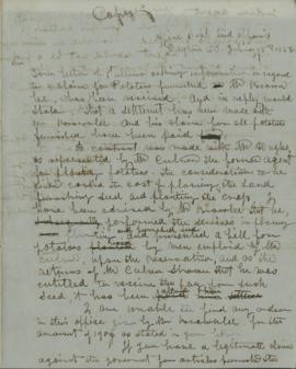 Copy of letter from Joel Palmer