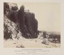 """D.121. From Rooster Rock to Oneonta Falls. Bridal Veil Bluffs."""