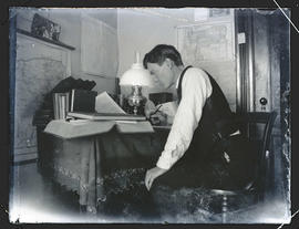 Young man at a desk