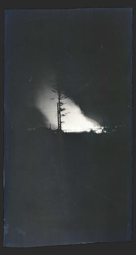 Large fire at night