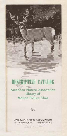 Pamphlet listing William Finley nature films