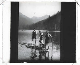 Swimmers at Pamelia Lake