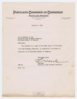 Correspondence discussing report of the Bonneville Dam Fishways Committee