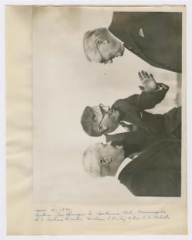 Image of William Finley, Dr. J. S. Roberts, and H. C. Andress, Director of the Hennepin County Sp...