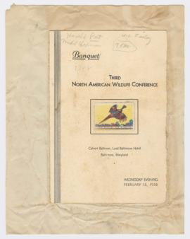 Program for 3rd North American Wildlife Conference Banquet