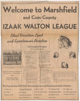 Advertisement for Izaak Walton League Annual State Convention