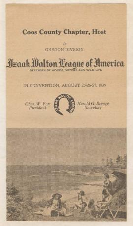 Program for Izaak Walton League Annual State Convention