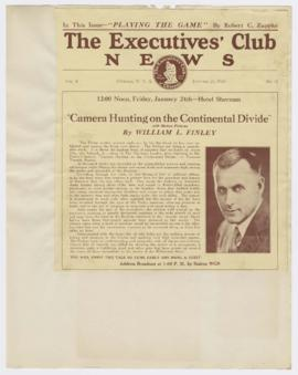 "Advertisement promoting ""Camera hunting on the continental divide"" lecture"