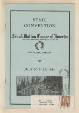 Program for Izaak Walton League of America State Convention