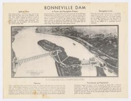Information and drawing of proposed Bonneville Dam