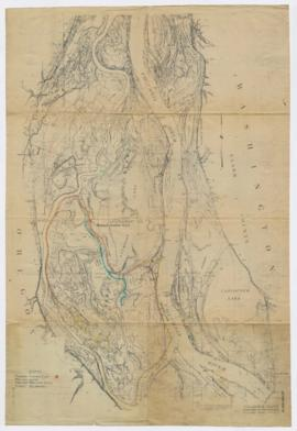 Map of Columbia River & Sauvie Island