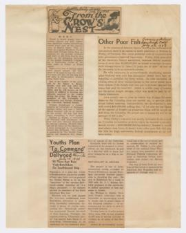 Articles discussing American Boy trip to Alaska and transportation of goods on Columbia River