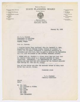 Letter discussing proposed appointment of Charles Wilson to the Advisory Research Council's recre...
