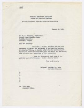 Correspondence discussing proposed appointment of Charles Wilson to the Advisory Research Council...