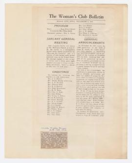 Program and advertisement for lecture