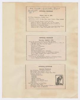 Program for State Convention of the Izaak Walton League Of America