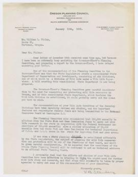 Letter describing proposed creation of a State Planning Board and State Department of Conservatio...