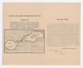 Malheur, Lower Klamath Lake, and Hart Mountain Refuges, 1930-1935