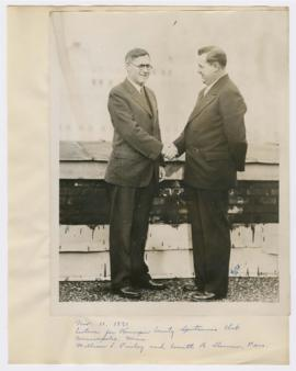 Image of William Finley and Everett B. Sherman, President of the Hennepin County Sportsmen's...