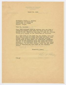 Letter discussing proposed appointment of Sinclair A. Wilson's brother, Charles Wilson, to the Ad...