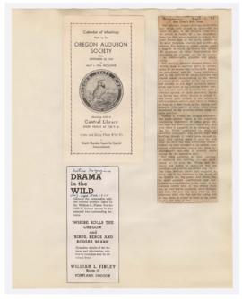 Program and advertisement for William Finley lectures