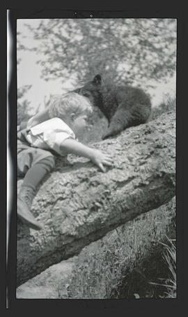 Theodore Bohlman? with bear cub