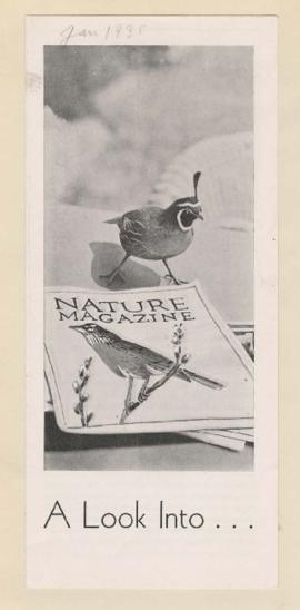 American Nature Association pamphlet featuring William Finley photographs