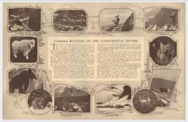 "Brochure for ""Camera hunting on the continental divide"" lecture"